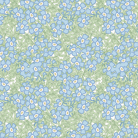©2011 forgetmenot large fabric by glimmericks on Spoonflower - custom fabric