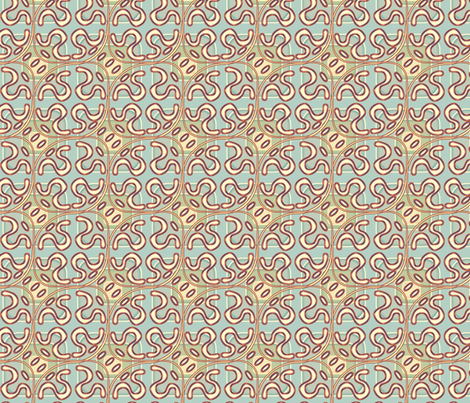 ©2011 squiggle rwb fabric by glimmericks on Spoonflower - custom fabric
