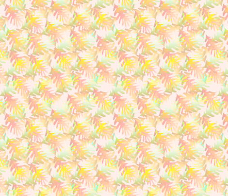 ©2011 fallleaves peach fabric by glimmericks on Spoonflower - custom fabric
