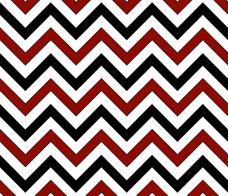 Red Chevrons fabric by pond_ripple on Spoonflower - custom fabric