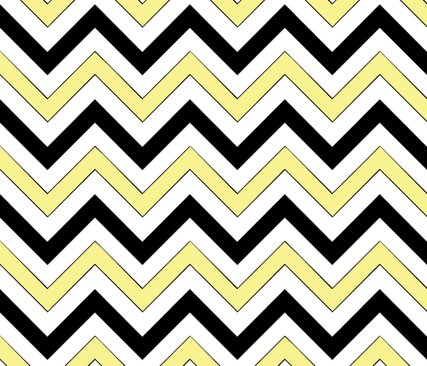 Yellow Chevrons fabric by pond_ripple on Spoonflower - custom fabric