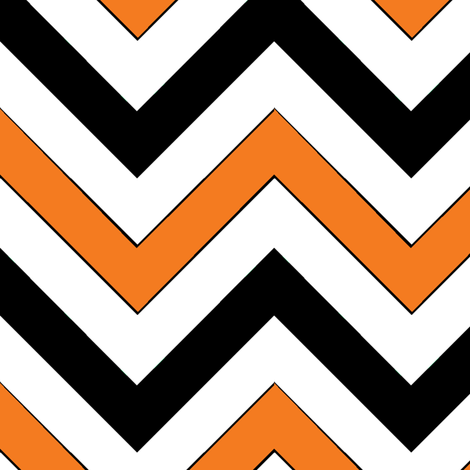 Orange Chevrons fabric by pond_ripple on Spoonflower - custom fabric