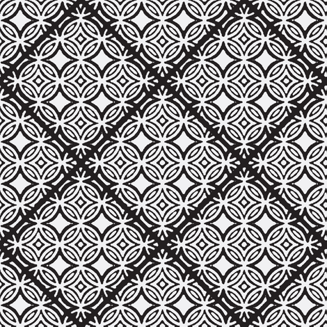 Black and White Lattice fabric by joanmclemore on Spoonflower - custom fabric