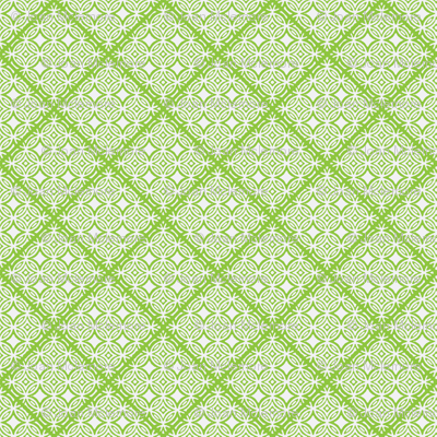 Lattice green and white