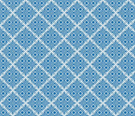 Lattice blue and white fabric by joanmclemore on Spoonflower - custom fabric