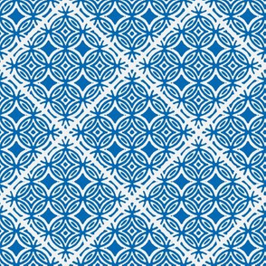 Lattice blue and white