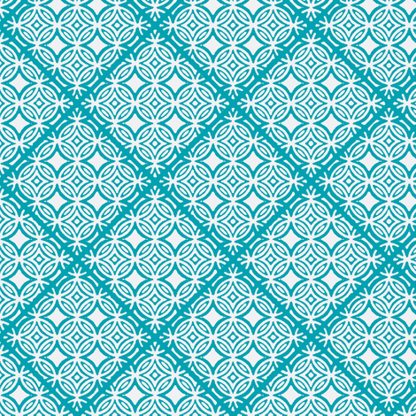 Lattice turquoise fabric by joanmclemore on Spoonflower - custom fabric