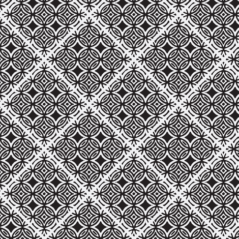 Lattice black and white inverted fabric by joanmclemore on Spoonflower - custom fabric