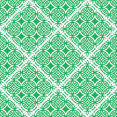 Lattice green fabric by joanmclemore on Spoonflower - custom fabric