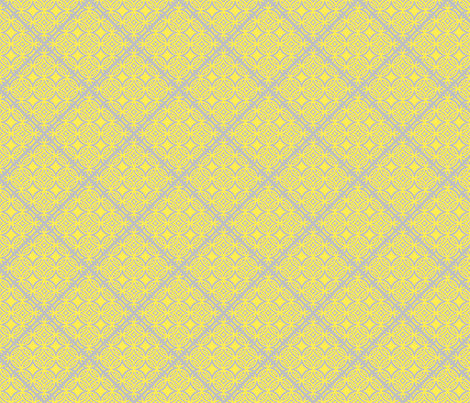 Lattice yellow and gray fabric by joanmclemore on Spoonflower - custom fabric