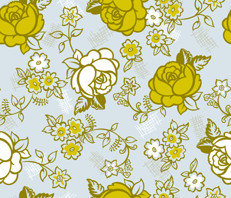 Retro Roses fabric by cynthiafrenette on Spoonflower - custom fabric