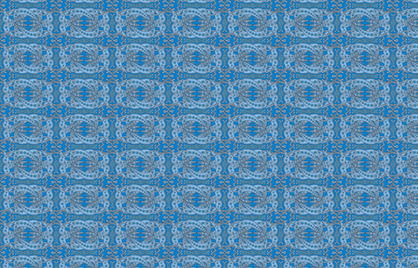 Blue Celtic Knot Greyhounds ©2011 by Jane Walker fabric by artbyjanewalker on Spoonflower - custom fabric