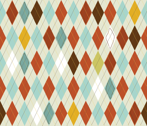 Berd Nerds- Argyle Vest fabric by cynthiafrenette on Spoonflower - custom fabric