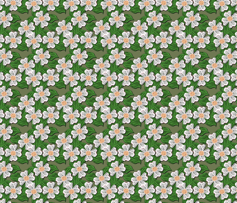 ©2011 dogwood white fabric by glimmericks on Spoonflower - custom fabric