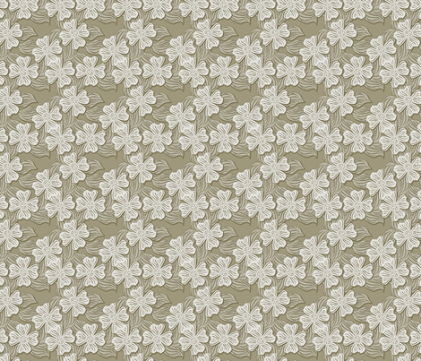 ©2011 dogwood beige fabric by glimmericks on Spoonflower - custom fabric