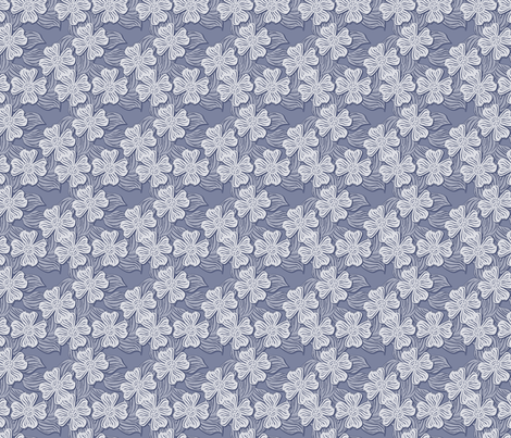 ©2011 dogwood blue fabric by glimmericks on Spoonflower - custom fabric