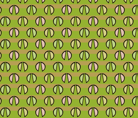 Clam Walk (Green) fabric by david_kent_collections on Spoonflower - custom fabric