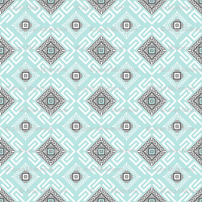Fretwork in Aqua
