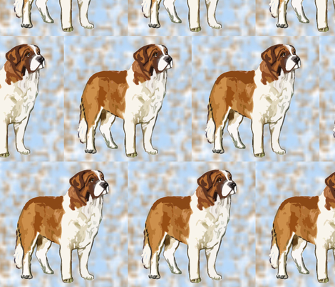 saint_bernard_ fabric by dogdaze_ on Spoonflower - custom fabric