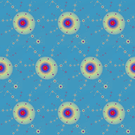Satellite sparks fabric by eclectic_house on Spoonflower - custom fabric