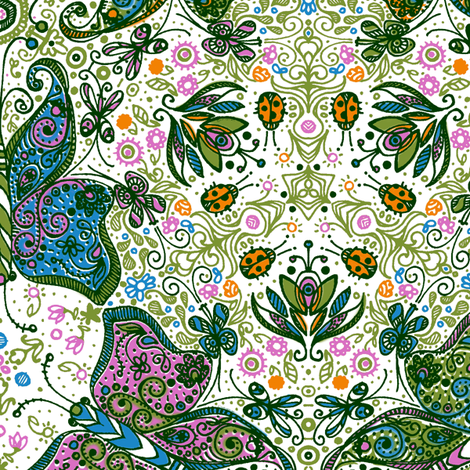Anatomy of a Garden in Color - © Lucinda Wei fabric by simboko on Spoonflower - custom fabric