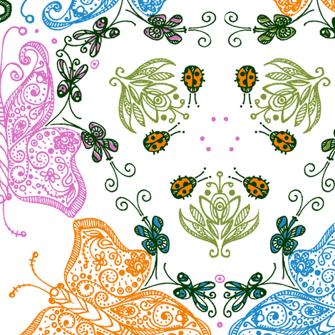 Anatomy of a Garden in Color II - © Lucinda Wei fabric by lucindawei on Spoonflower - custom fabric