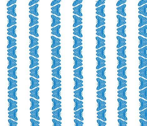 butterfly_blue fabric by jsmurray on Spoonflower - custom fabric