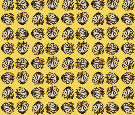 Lanternia (Yellow) fabric by david_kent_collections on Spoonflower - custom fabric