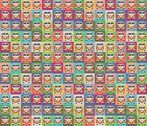small rainbow peace campers fabric by scrummy on Spoonflower - custom fabric