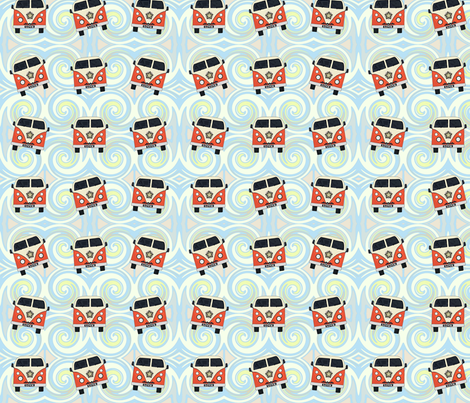 ocean camper vans fabric by scrummy on Spoonflower - custom fabric