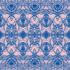 Victorian Gothic (pink/blue outline)