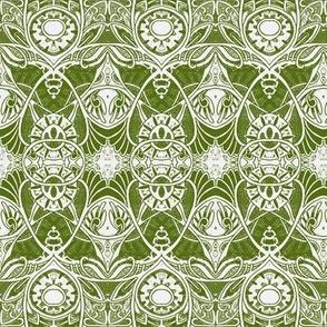 Victorian Gothic (olive/white)