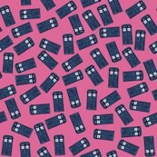 teeny tossed tardis pink
