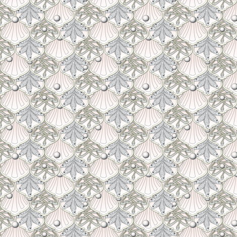 © 2011 Mermaid's Wedding Feast Dainty fabric by glimmericks on Spoonflower - custom fabric