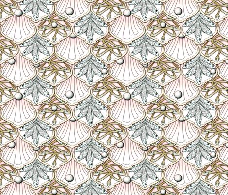 © 2011 Mermaid's Wedding Feast pink blue green fabric by glimmericks on Spoonflower - custom fabric