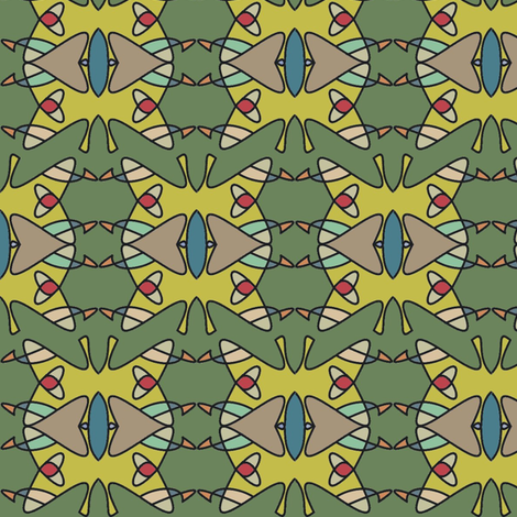 Yellow Monarch fabric by david_kent_collections on Spoonflower - custom fabric