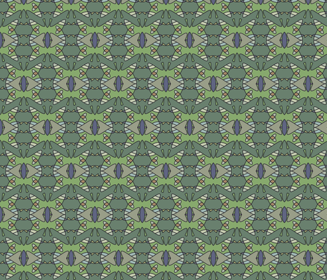 Green Monarch fabric by david_kent_collections on Spoonflower - custom fabric