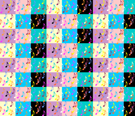 Musical Squares fabric by sherryann on Spoonflower - custom fabric