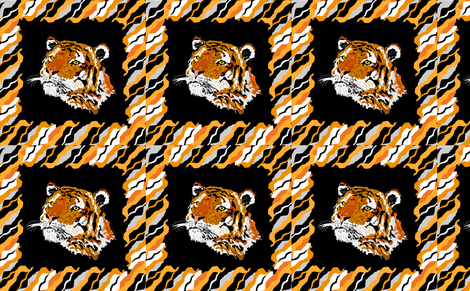 Tiger Pillow fabric by sewbiznes on Spoonflower - custom fabric