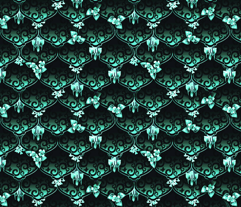 ©2011 Wood Nymph's Wedding Fest Moonlight fabric by glimmericks on Spoonflower - custom fabric