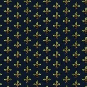 Peacock fleurdelis half inch navy