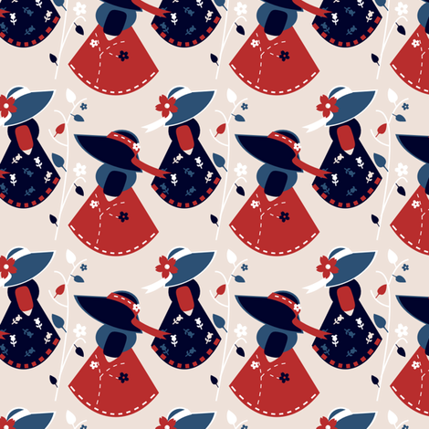 Sue The Patriot fabric by eppiepeppercorn on Spoonflower - custom fabric