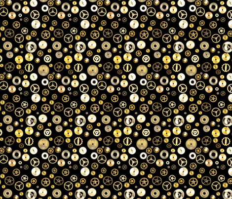 Cogs fabric by nezumiworld on Spoonflower - custom fabric