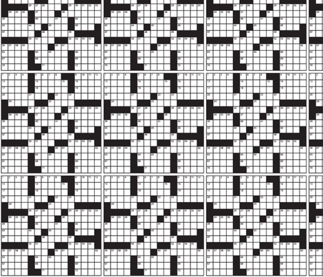 crossword_puzzle1- fabric by nassie3 on Spoonflower - custom fabric