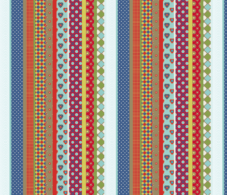 set_rayure_étoilé fabric by nadja_petremand on Spoonflower - custom fabric