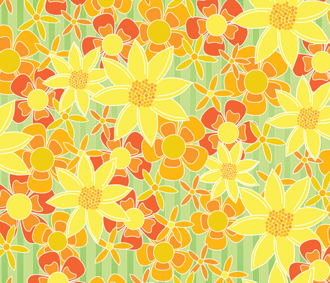 Garden Path Flowers fabric by wildnotions on Spoonflower - custom fabric