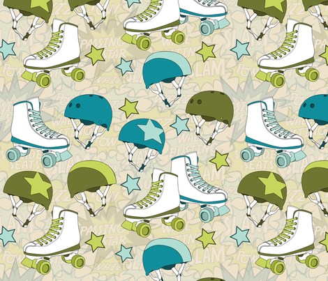 Roller Derby fabric by wildnotions on Spoonflower - custom fabric