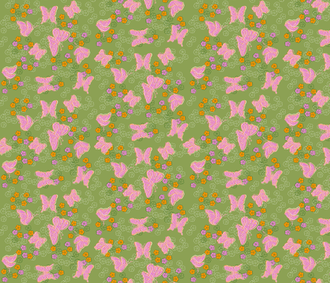 Butterflies fly by (please zoom in) fabric by woodle_doo on Spoonflower - custom fabric