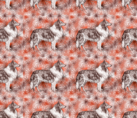 collie_with_stars fabric by dogdaze_ on Spoonflower - custom fabric