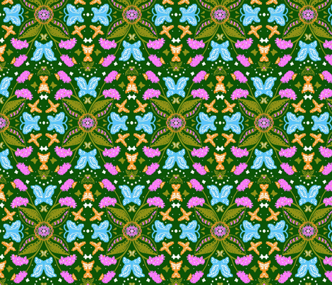 The Butterfly Bush fabric by kiwiandsteve on Spoonflower - custom fabric